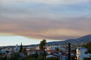 Forest fires leave their mark in the skies...