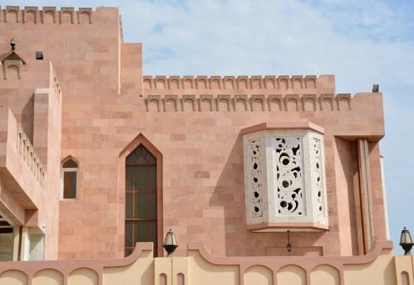 Part of the villa facade...