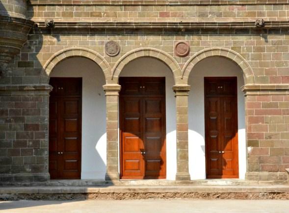 Doors along the walkway...