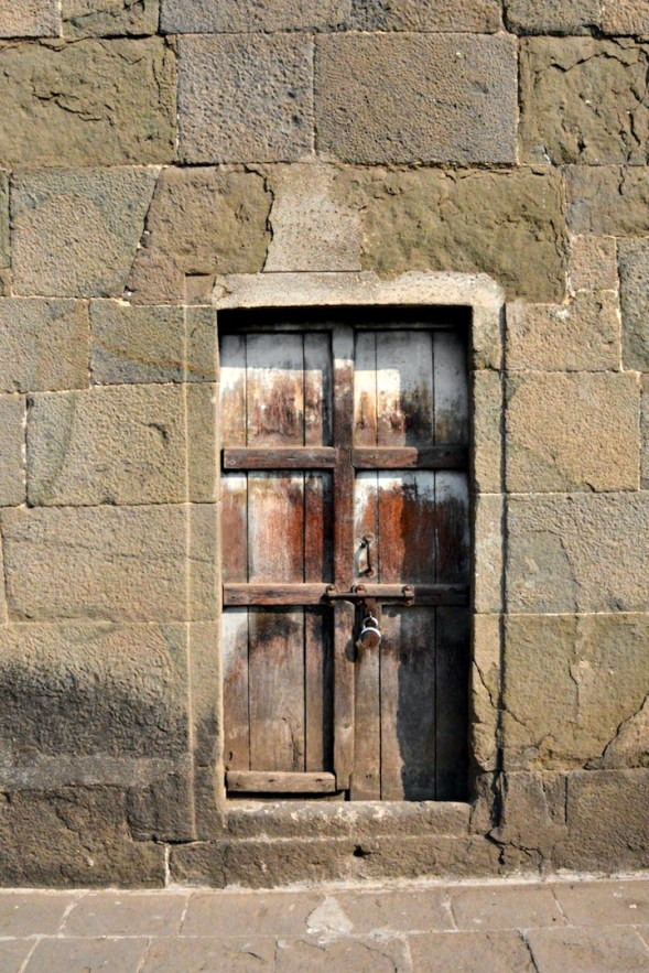The only other door I found inside the ramparts...