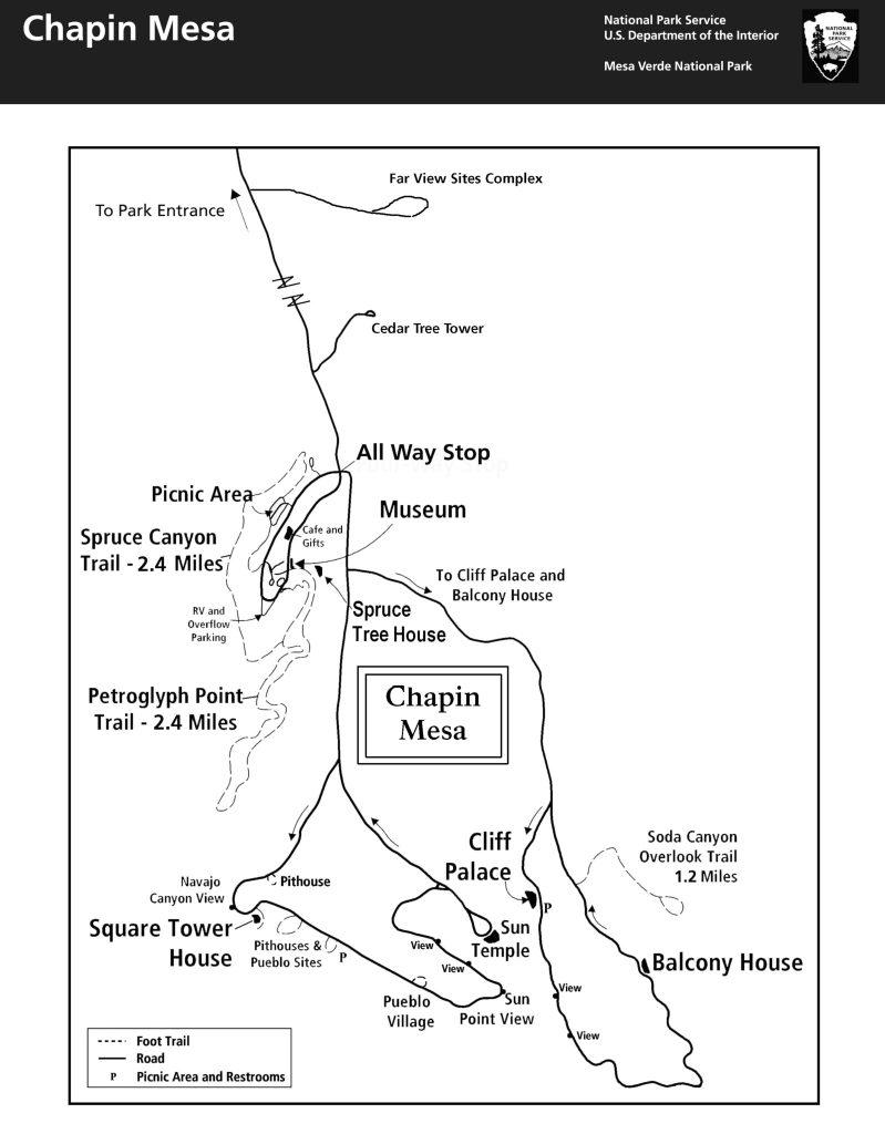 Chapin Mesa - Mapa