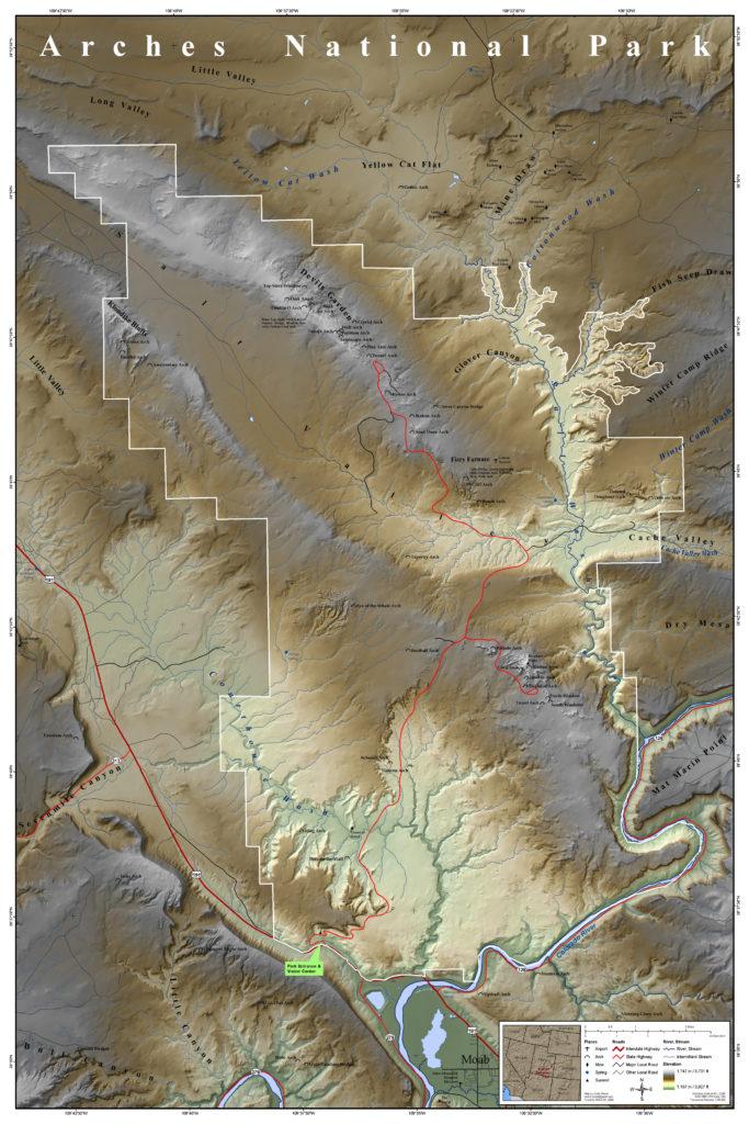 Mapa Parku Arches