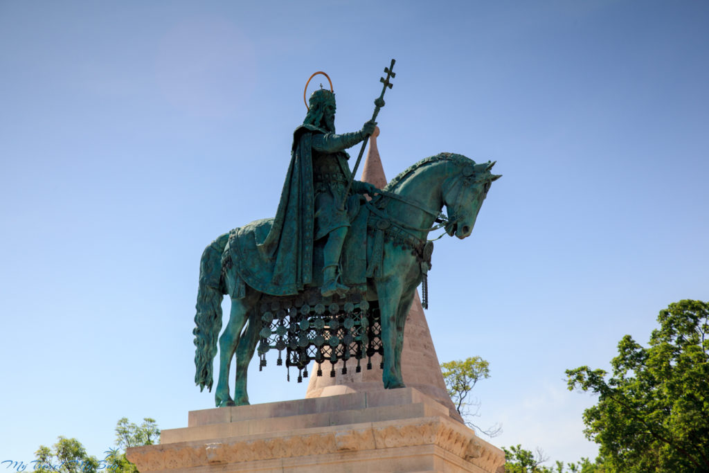 Stefan I - pomnik przy Baszcie Rybackiej - Budapeszt
