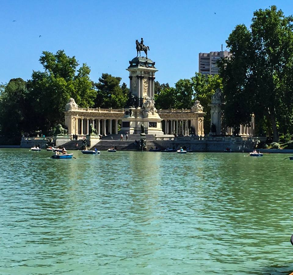 Madrid retiro park in spain