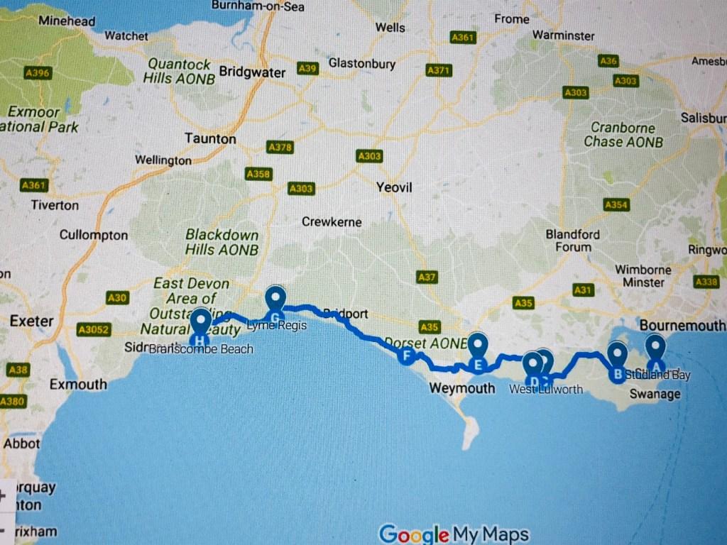 jurassic coast itinerary