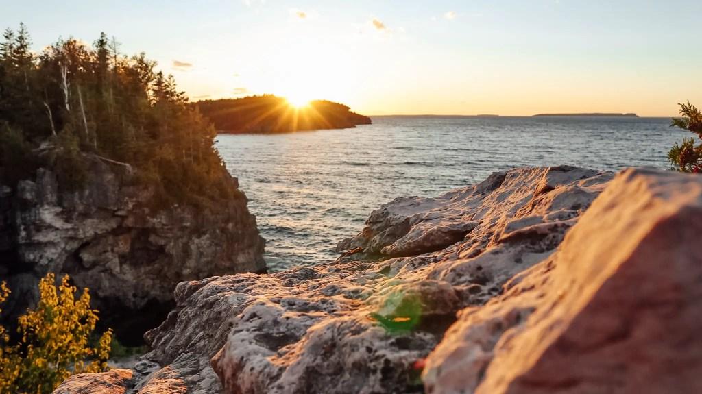 coucher de soleil baie géorigenne