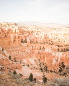 Sunset view of Bryce from the rim
