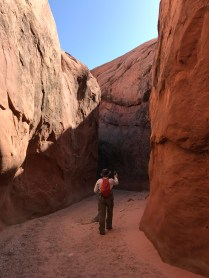 Steve documenting one of the small canyons