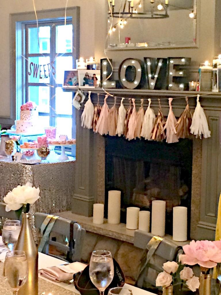 Elegant Pink And Gold Bridal Shower Trueblu Bridesmaid