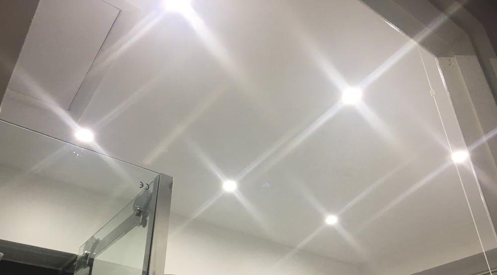 six bathroom spotlights