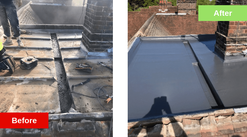 Roofer in Leatherhead