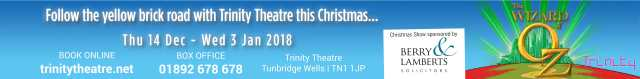 Wizard of Oz at Trinity Theatre Banner Ad