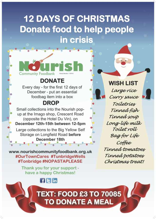 Nourish 12 days of Christmas 2019