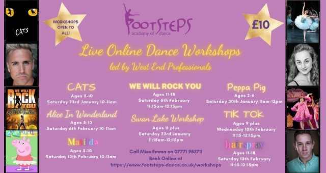 Live Online Dance Workshops Footsteps Academy