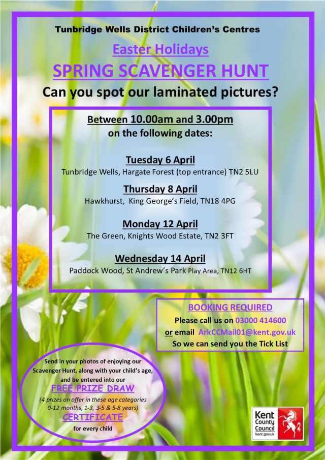Easter Events Guide_Tunbridge Wells Children Centres
