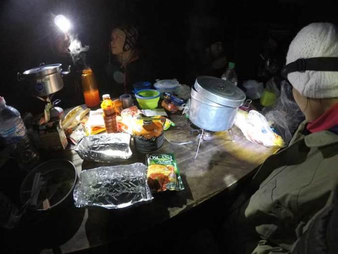 dinner in torres del paine