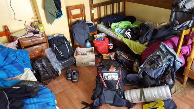 packing for w-trek