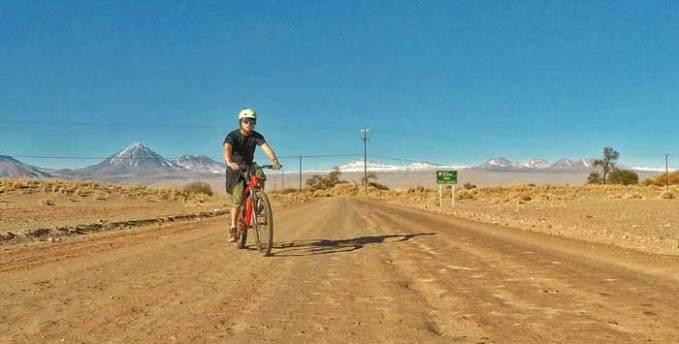 cycling in atacama desert