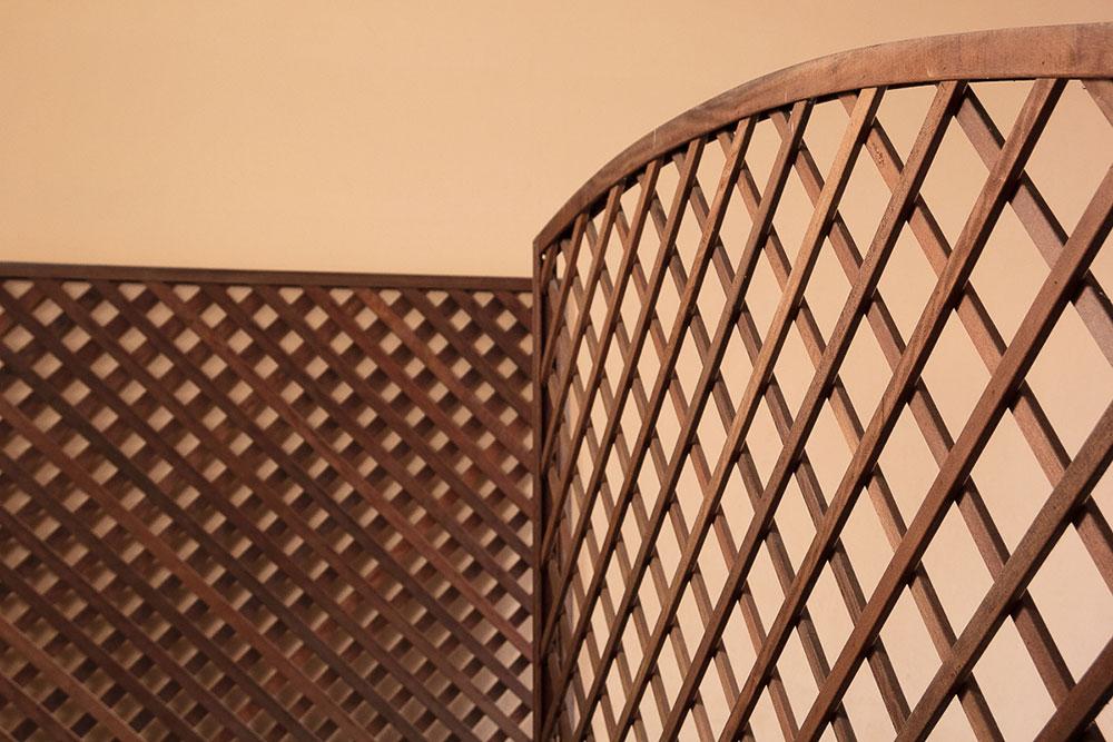 Pannelli divisorio/barriera frangi vista 1m x 1m. Divisori In Legno Da Giardino Paravento Frangisole Separe