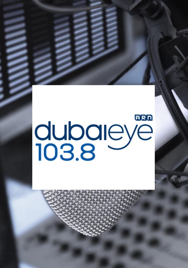 The logo for Dubai Eye radio