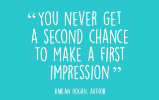 An image showing the text 'you never get a second change to make a first impression' which is in reference to school interviews