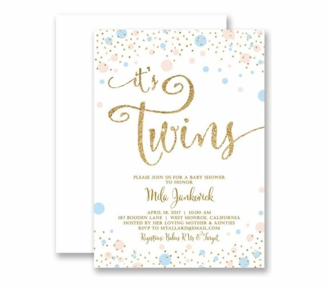 21 Twin Baby Shower Invitations Ideas