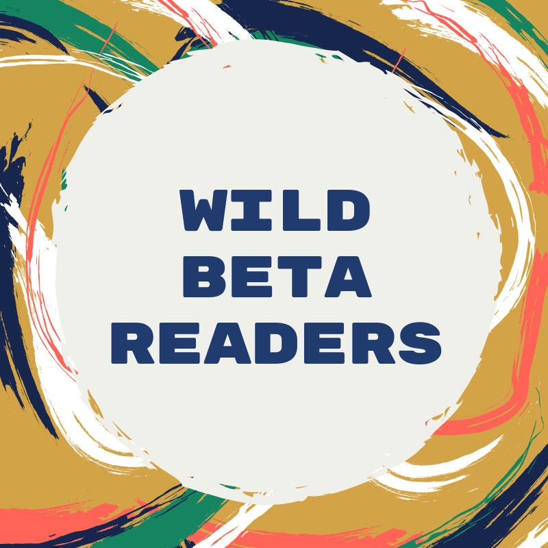 Graphic: Swirly paint strokes. Text: Wild Beta Readers.