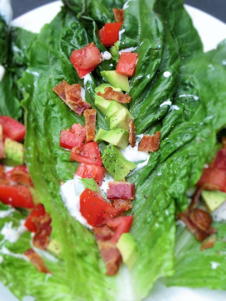 BLT + Avocado Lettuce Wraps