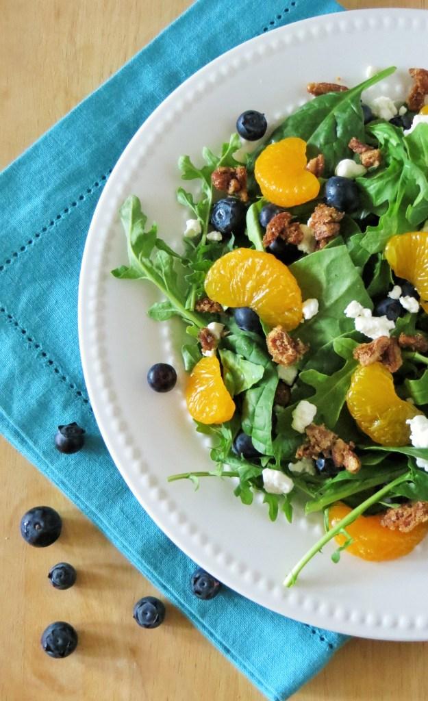 Bluberry-Orange Arugula Salad