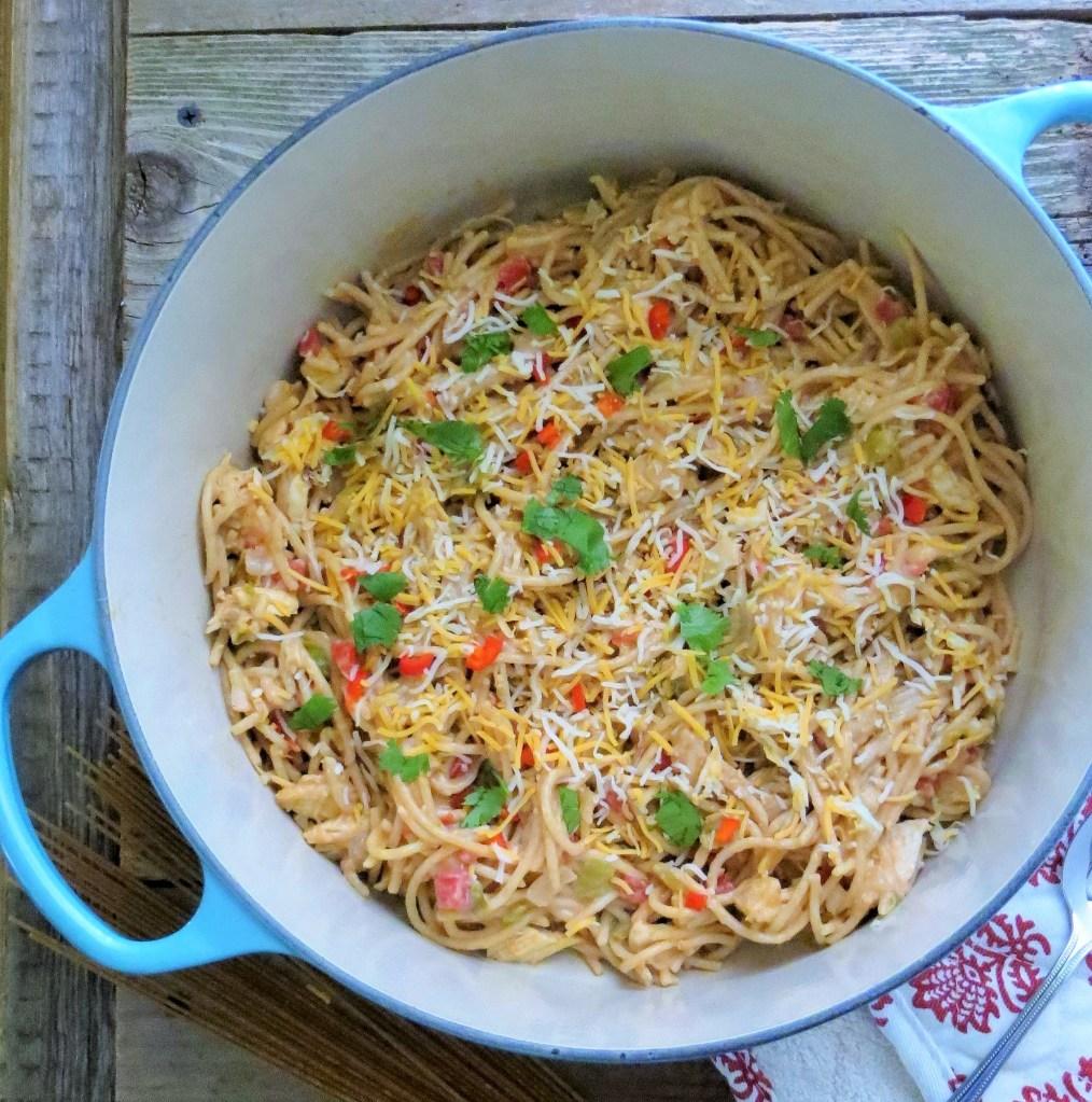 Hatch Green Chile Chicken Spaghetti