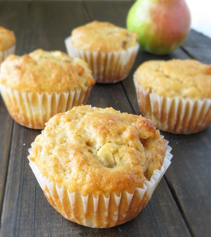 Pear and Sour Cream Muffins