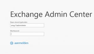 Exchange 2013: EAC login