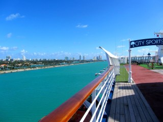 View of Miami from the ship