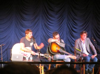 One of the Matchbox Twenty shows was a singer songwriter session -- they shared how they write songs and even played a couple of songs before they were actually songs - when they were still trying to write them - definitely my favorite show!!
