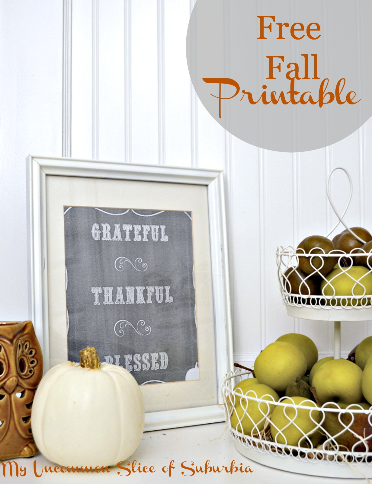 Simple Fall Printable And Vignette