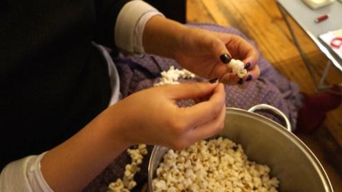 Christmas Tree Popcorn garland
