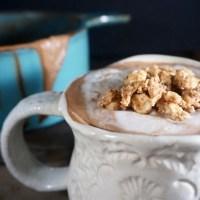 Hazelnut hot drinking chocolate...in the Vitamix! (vegan)