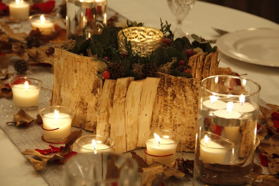 Holiday Star Centerpiece: $65 (Candles not included)