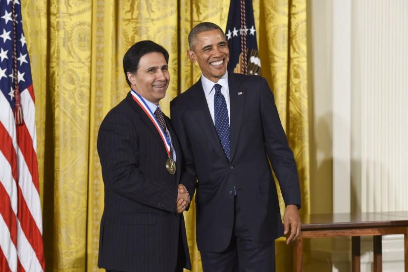Mark Humayun and President Barack Obama at the White House
