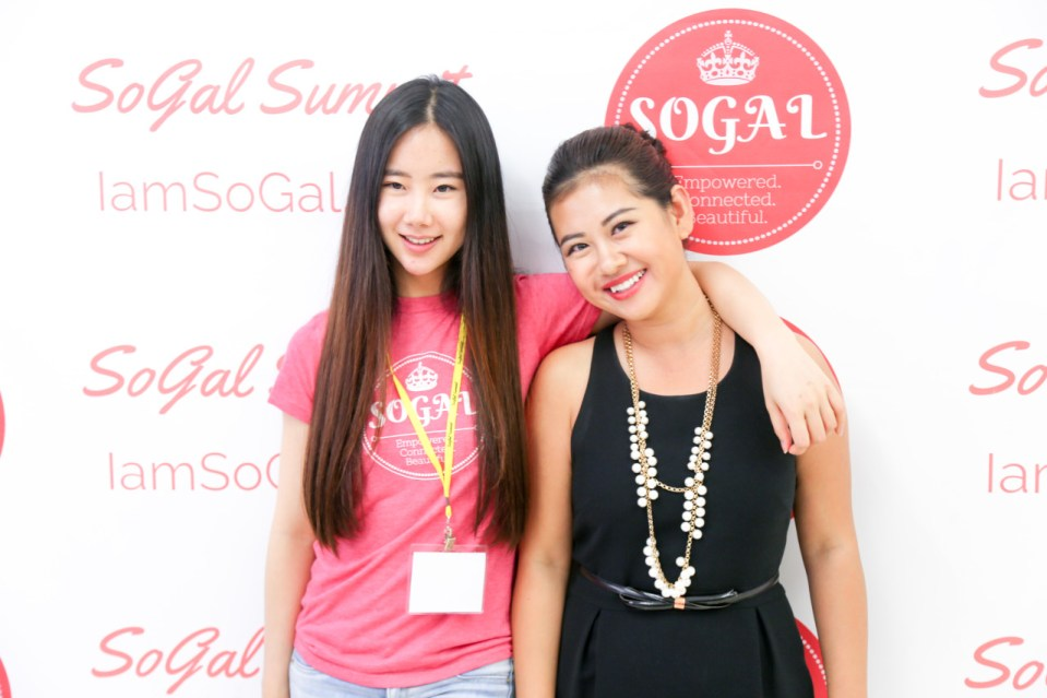 Pocket Sun (left) during an event for SoGal, her VC firm that she established during her graduate student days at USC