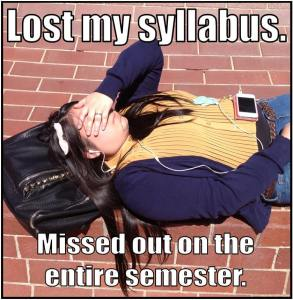 lost my syllabus