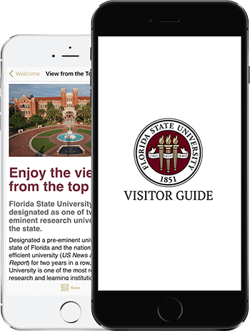 Visit FSU App on 2 iPhones