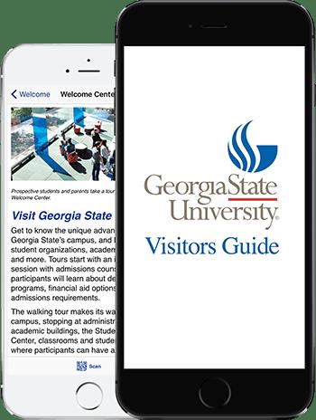 Visit GSU App on 2 iPhones