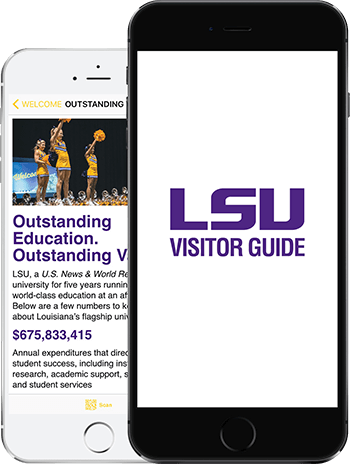 Visit LSU App on 2 iPhones