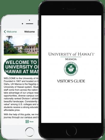 Visit UHM App on 2 iPhones