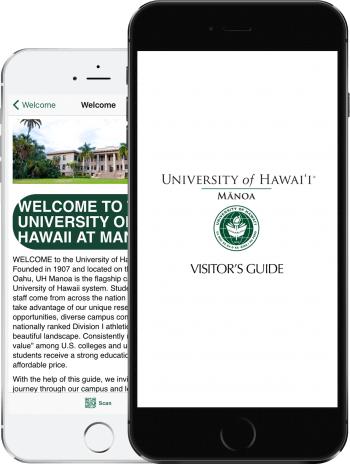 Visit UHM App on 2 iPhones