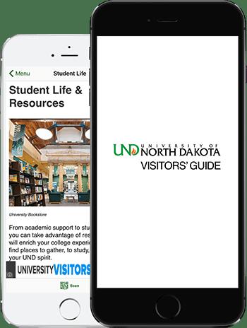 Visit UND App on 2 iPhones
