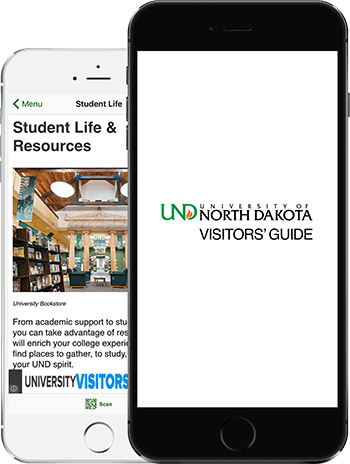Visit UND App on 2 iPhones