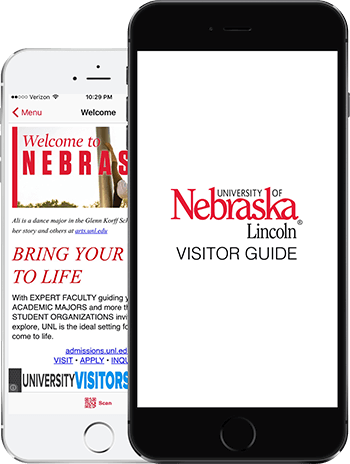 Visit UNL App on 2 iPhones