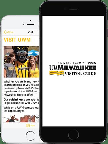Visit UWM App on 2 iPhones